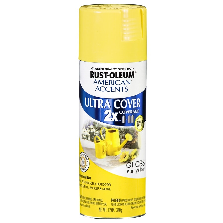 Shop Rust Oleum American Accents Sun Yellow Fade Resistant Enamel Spray Paint Actual Net