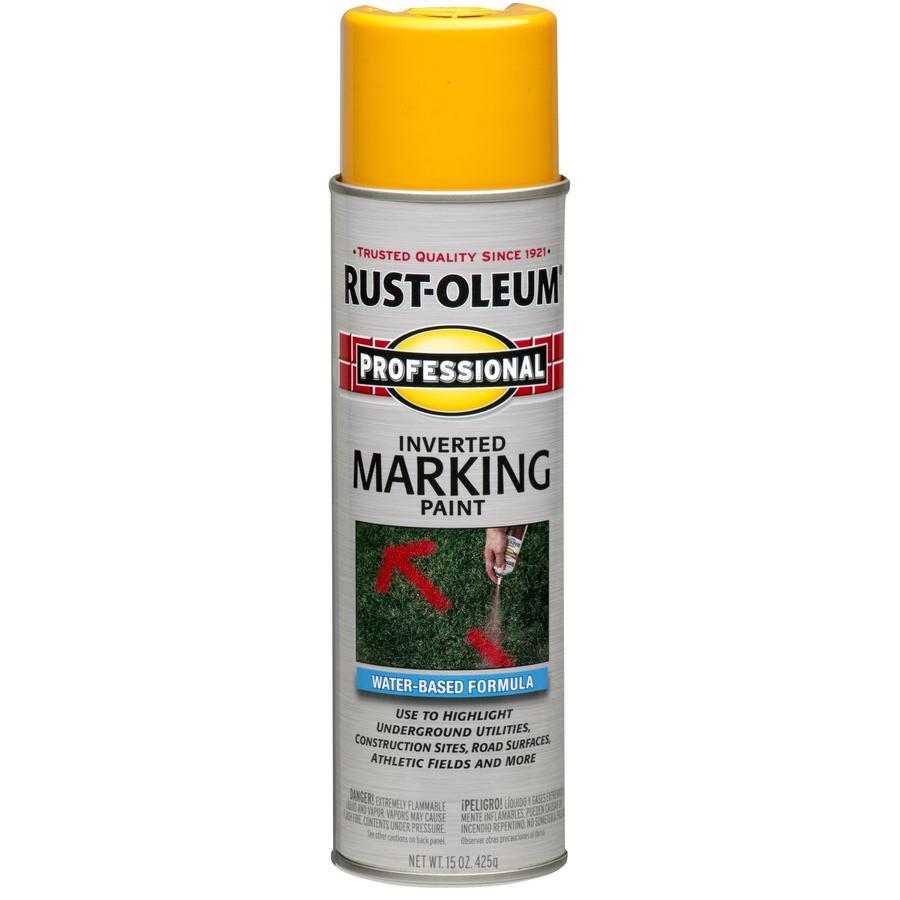 Rust-Oleum Professional Marking Fluorescent Orange Fluorescent Fade Resistant Spray Paint (Actual Net Contents: 15-oz)