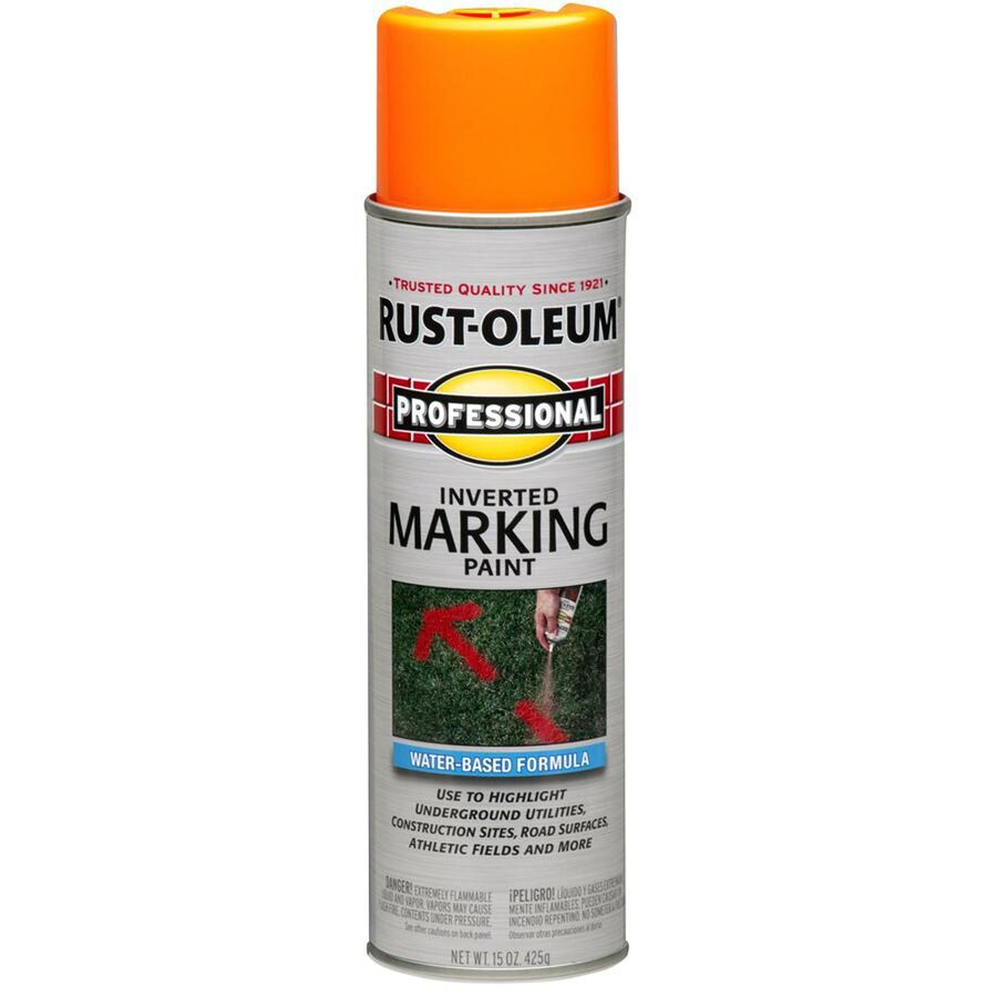 Rust-Oleum Professional Marking Fluorescent Red Orange Fluorescent Fade Resistant Spray Paint (Actual Net Contents: 15-oz)