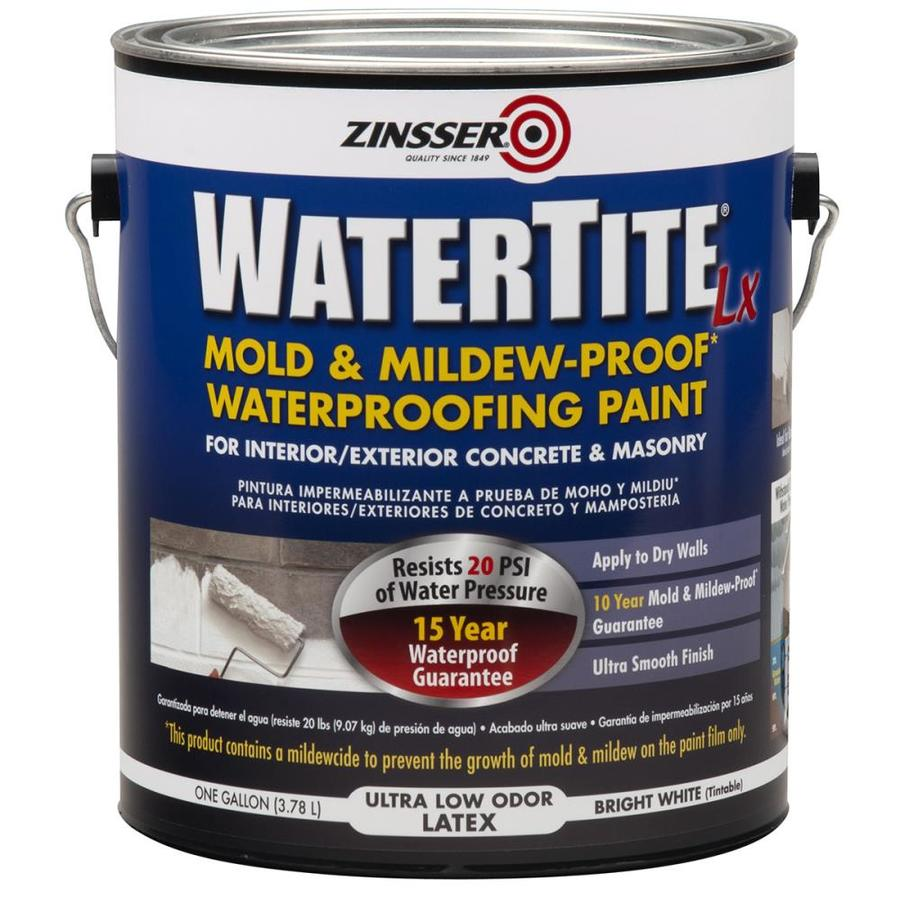 Zinsser Watertite Lx White Flat Mildew Resistant Mold Resistant Waterproofer Gallon In The Waterproofers Sealers Department At Lowes Com