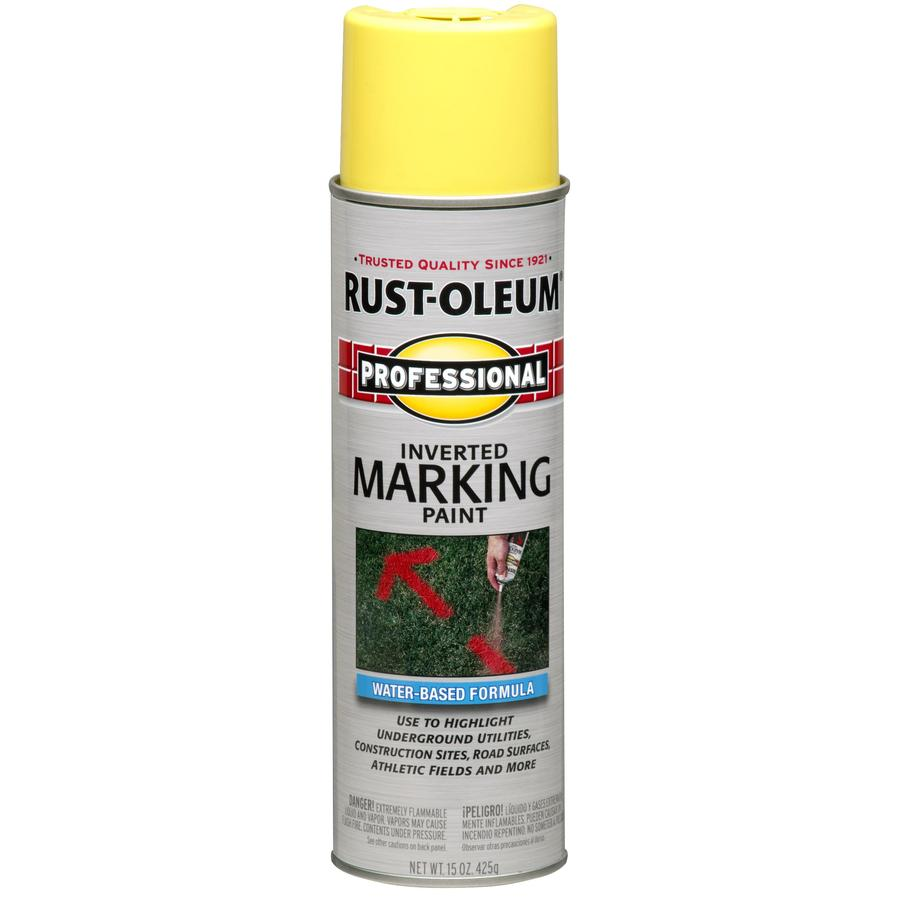 Shop Rust Oleum Professional 6 Pack High Visibility Yellow Water Based Marking Paint Actual Net