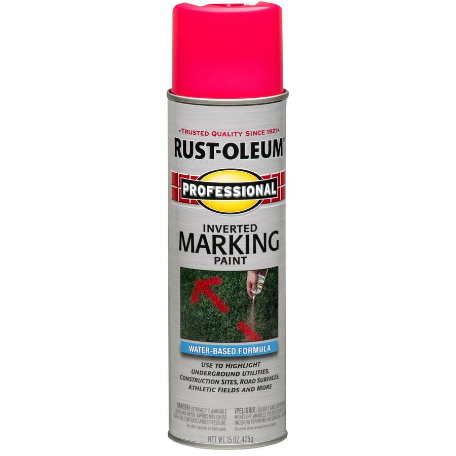 Shop Rust Oleum Professional 6 Pack Pink Water Based Marking Paint Actual Net Contents 15 Fl