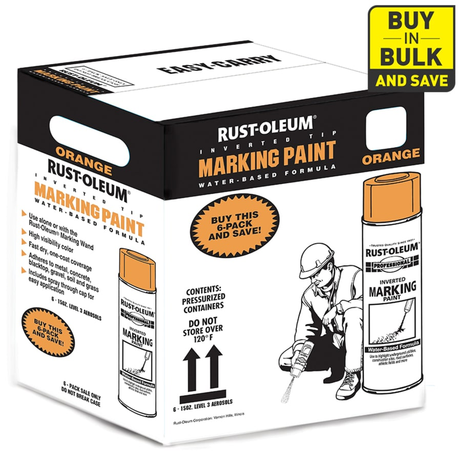 Rust-Oleum Professional Marking Fluorescent Orange Fluorescent Fade Resistant Spray Paint (Actual Net Contents: 15-oz)