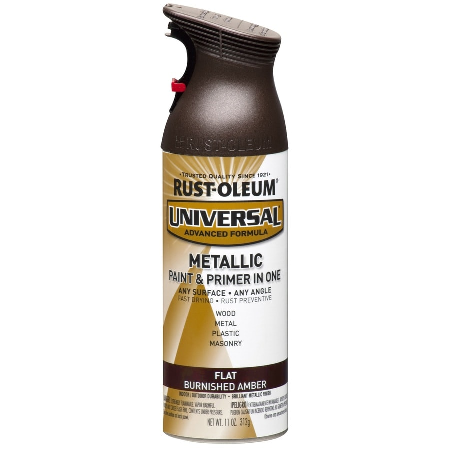 Shop Rust Oleum Universal Burnished Amber Metallic Enamel Spray Paint Actual Net Contents 11