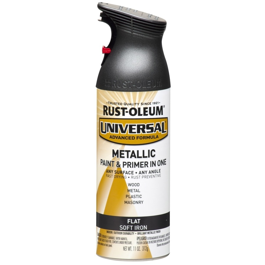 Shop Rust Oleum Universal Soft Iron Metallic Enamel Spray Paint Actual Net Contents 11 Oz At