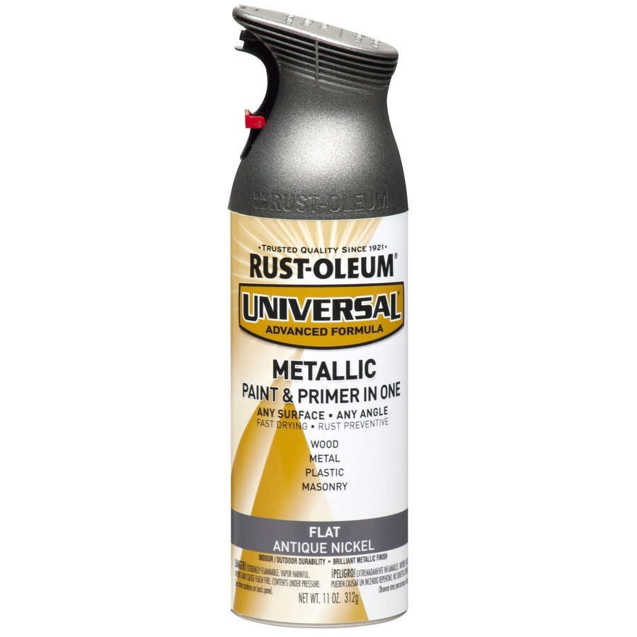 Rust Oleum Universal General Purpose Flat Antique Nickel Metallic Spray Paint Actual Net Contents