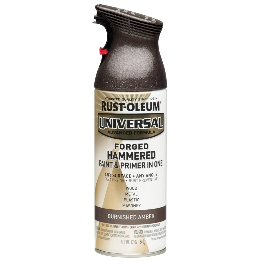 Rust-Oleum Universal Forged Hammered Burnished Amber Hammered Rust Resistant Enamel Spray Paint (Actual Net Contents: 12-oz)