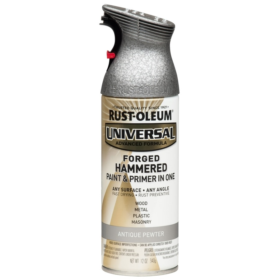 Rust Oleum Universal Gloss Antique Pewter Hammered Spray Paint And