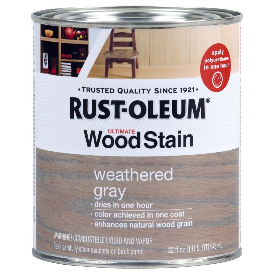 Rust Oleum Ultimate Weathered Gray Interior Stain Actual Net Contents 32 Fl