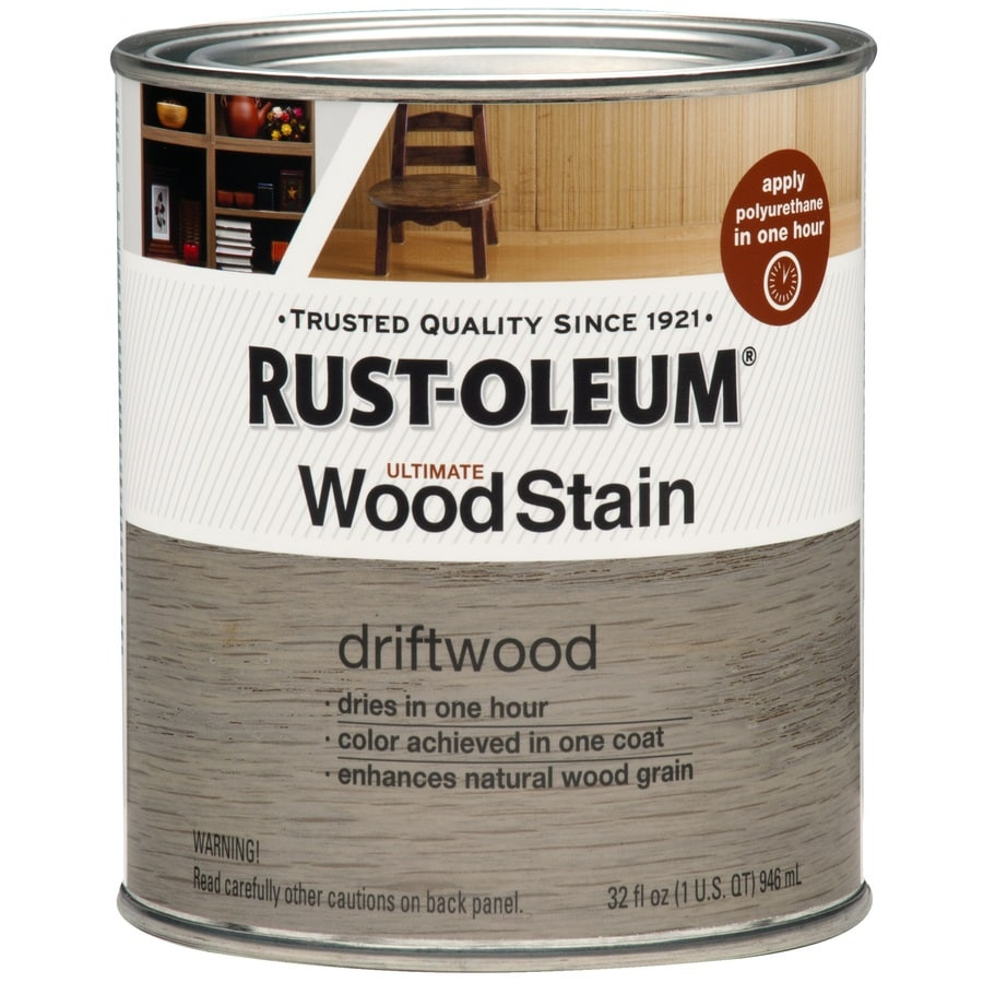Shop Rust Oleum Ultimate Wood Stain 32 Fl Oz Driftwood Oil