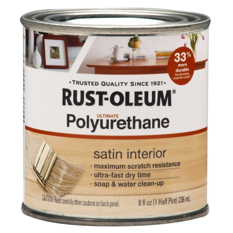 Rust-Oleum Satin Water-Based 8-fl oz Polyurethane