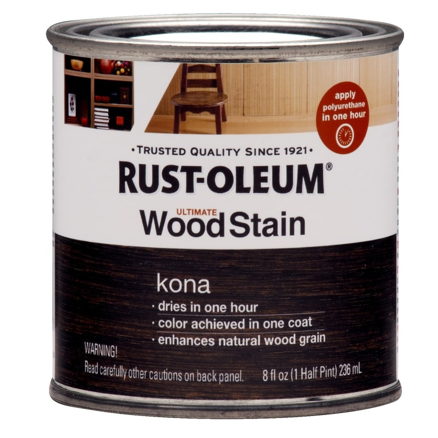 Rust Oleum Ultimate Kona Interior Stain Actual Net Contents 8 Fl Oz In The Interior Stains Department At Lowes Com Lowe's holiday hours ~ closed/open: rust oleum ultimate kona interior stain actual net contents 8 fl oz