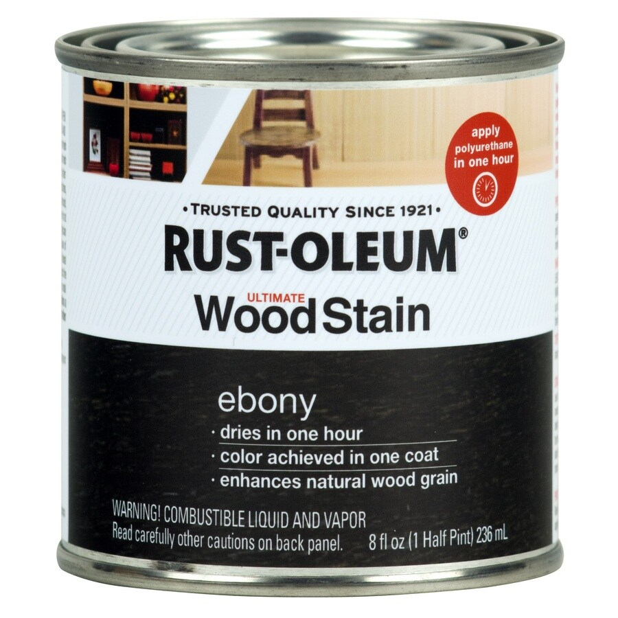 Charmant Rust Oleum Ultimate Ebony Interior Stain (Actual Net Contents: 8 Fl Oz