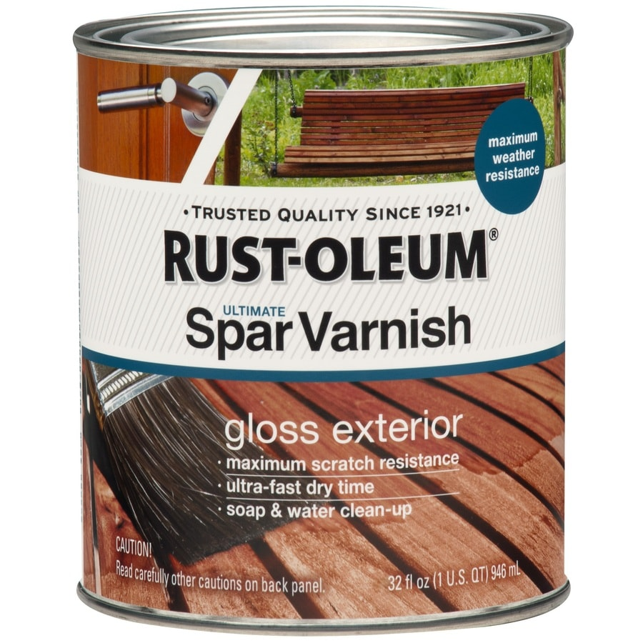 Rust-Oleum Gloss Water-Based 32-fl oz Varnish