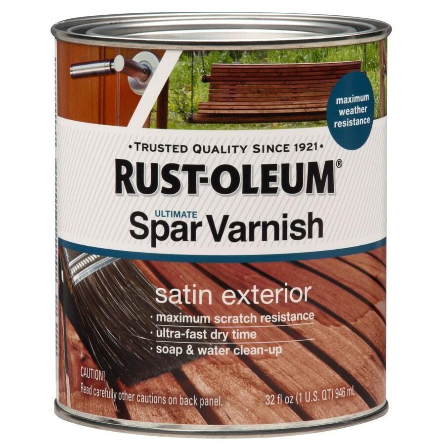 Rust-Oleum Satin Water-Based 32-fl oz Varnish