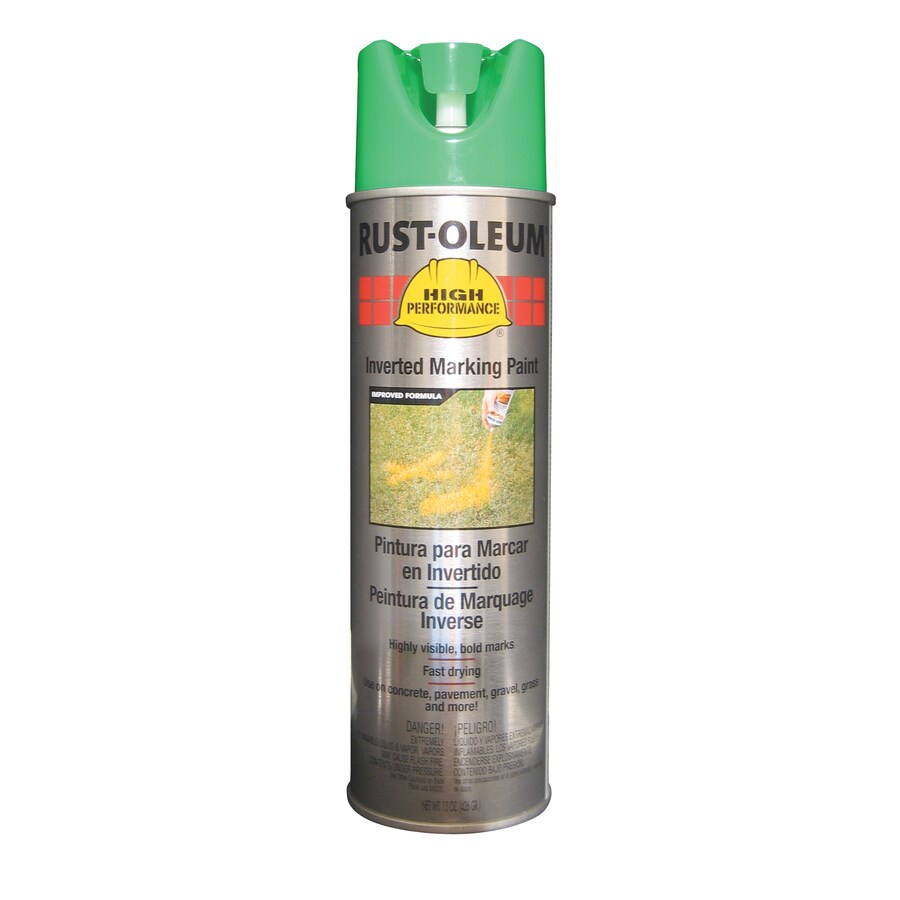 Shop Rust Oleum High Performance 6 Pack Green Oil Based Marking Paint Actual Net Contents 15