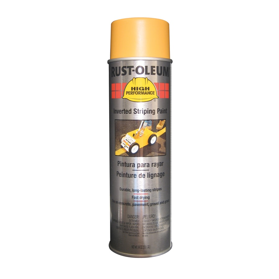 Shop Rust Oleum High Performance 6 Pack Yellow Oil Based Striping Paint Actual Net Contents 18