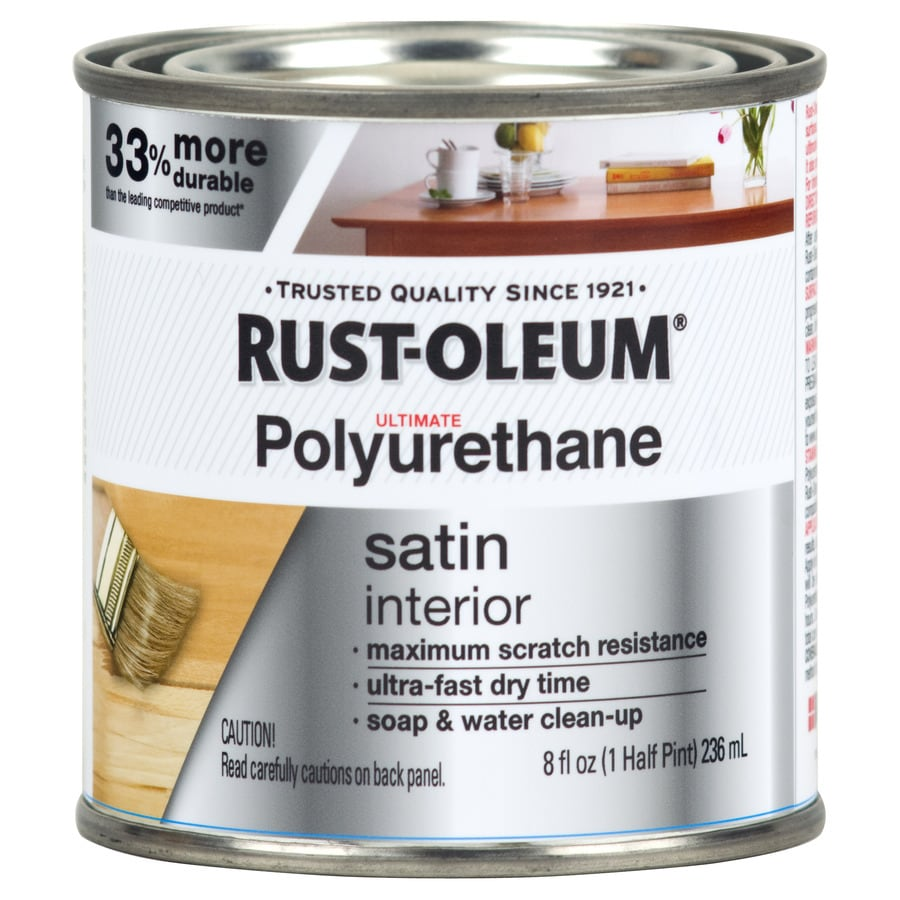 Water Based Polyurethane For Floors Lowes: Shop Rust-Oleum Ultimate Poly Satin Water-Based 8 Unit Of