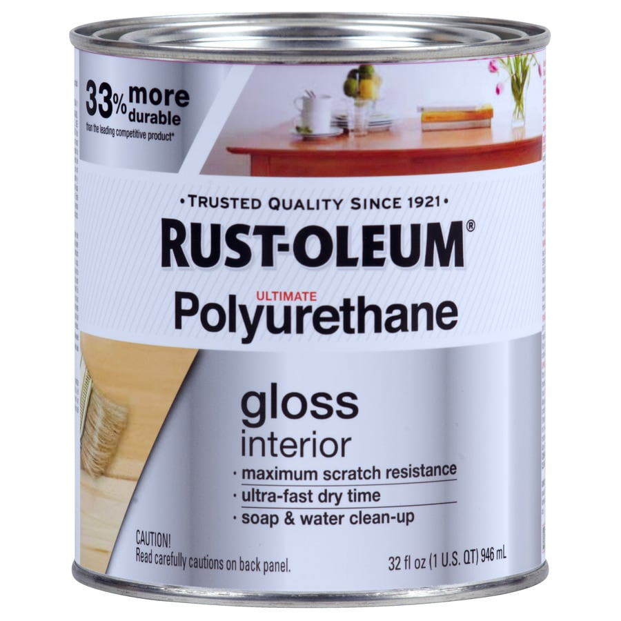 Rust-Oleum Gloss Water-Based 32-fl oz Polyurethane