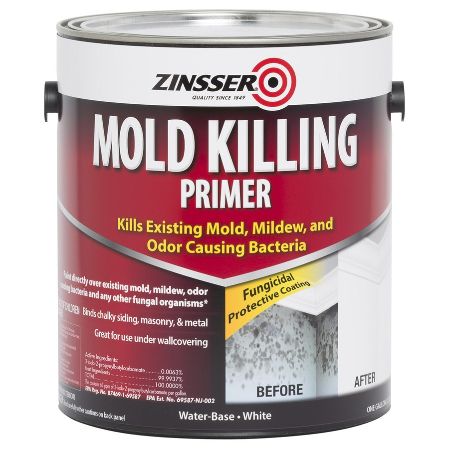 Shop rust oleum mold killing interior exterior latex primer actual net contents 128 fl oz at for Can you use exterior primer inside