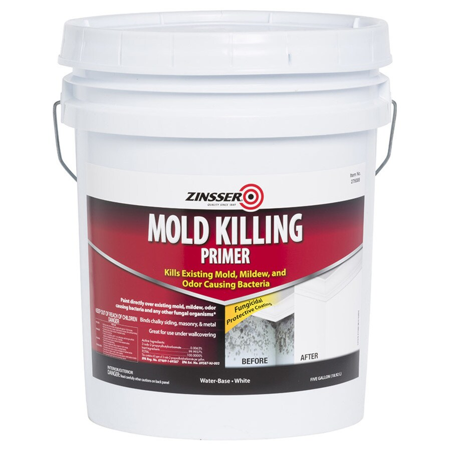 Zinsser Mold Killing Interior Exterior Multi Purpose Water Based Primer Actual Net Contents 640 Fl Oz
