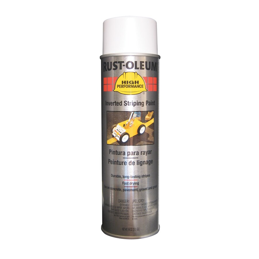Rust-Oleum High Performance Striping White Fade Resistant Enamel Spray Paint (Actual Net Contents: 18-oz)