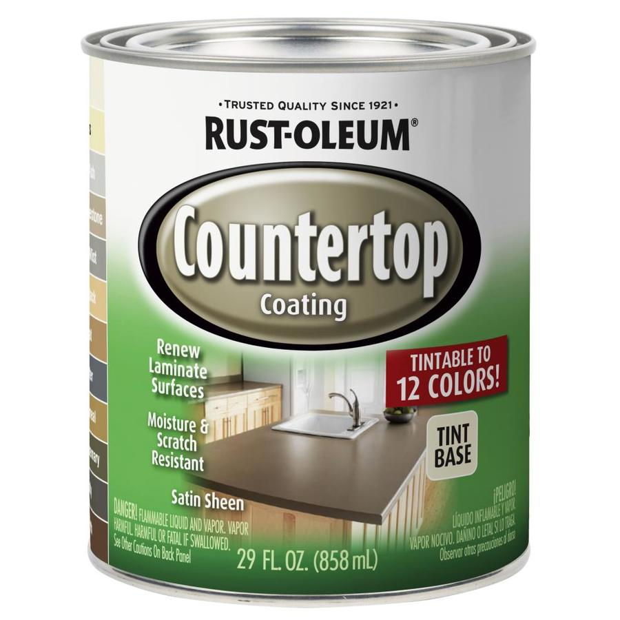 Clear Satin Epoxy Paint For Countertops : Shop rust oleum specialty light base satin countertop
