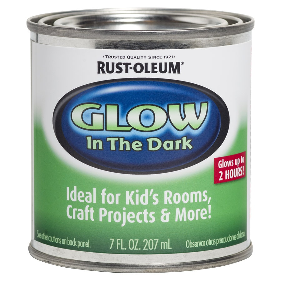 shop rust oleum luminous green satin glow in the dark