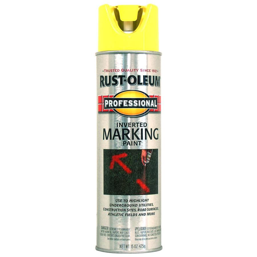 Rust-Oleum Professional 6-Pack Caution Yellow Oil-based Marking Paint (Actual Net Contents: 15-fl oz)