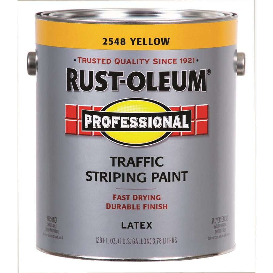 Rust-Oleum Professional Traffic Striping Yellow Flat Acrylic Exterior Paint (Actual Net Contents: 128-fl oz)