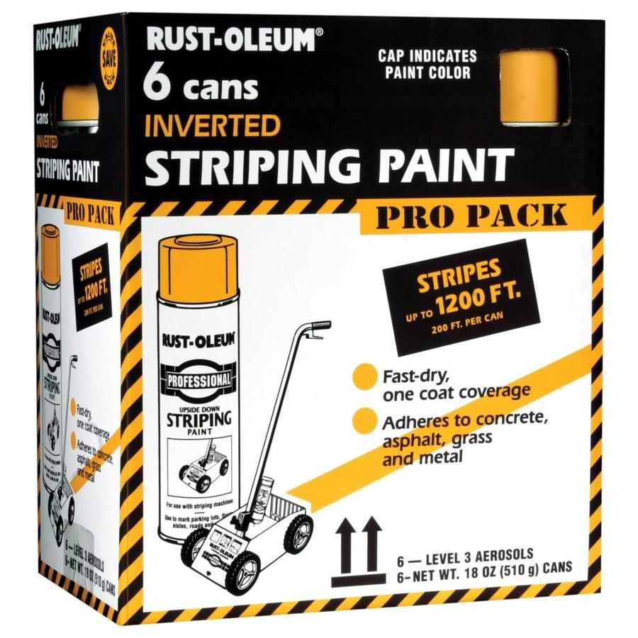 Rust-Oleum Professional Striping Yellow Fade Resistant Enamel Spray Paint (Actual Net Contents: 18-oz)