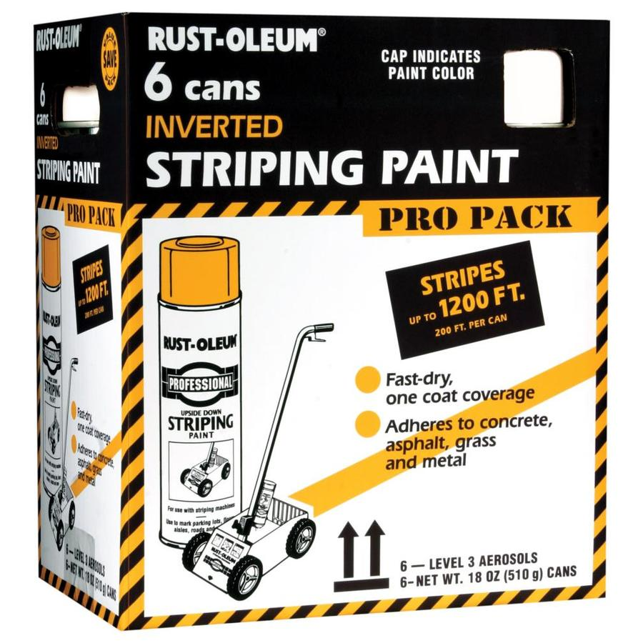 Rust-Oleum Professional Striping White Fade Resistant Enamel Spray Paint (Actual Net Contents: 18-oz)