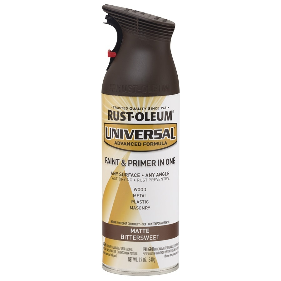 Rust-Oleum Matte Universal Bittersweet Rust Resistant Enamel Spray Paint (Actual Net Contents: 12-oz)