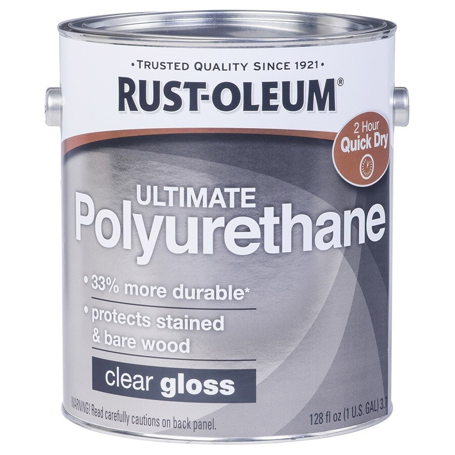 Water Based Polyurethane For Floors Lowes: Rust-Oleum Ultimate Poly Gloss Water-Based 128-fl Oz