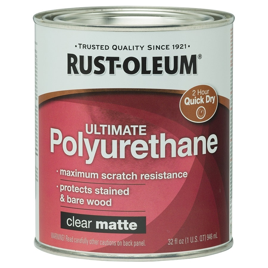Water Based Polyurethane For Floors Lowes: Rust-Oleum Ultimate Poly Matte Water-Based 32-fl Oz