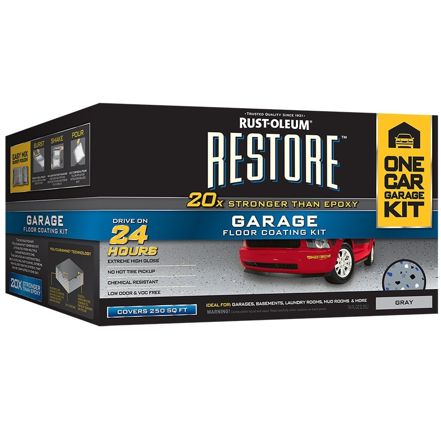Rust-Oleum Restore 2-Part Gray Gloss Garage Floor Epoxy Kit (Actual Net Contents: 76-fl oz)