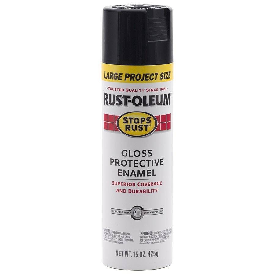 Rust-Oleum Stops Rust Black Enamel Spray Paint (Actual Net Contents: 15-oz)