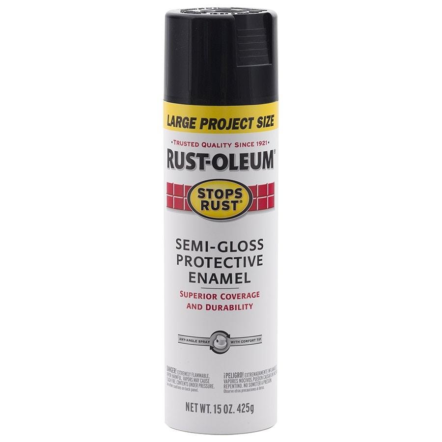 Rust-Oleum Stops Rust Black Rust Resistant Enamel Spray Paint (Actual Net Contents: 15-oz)