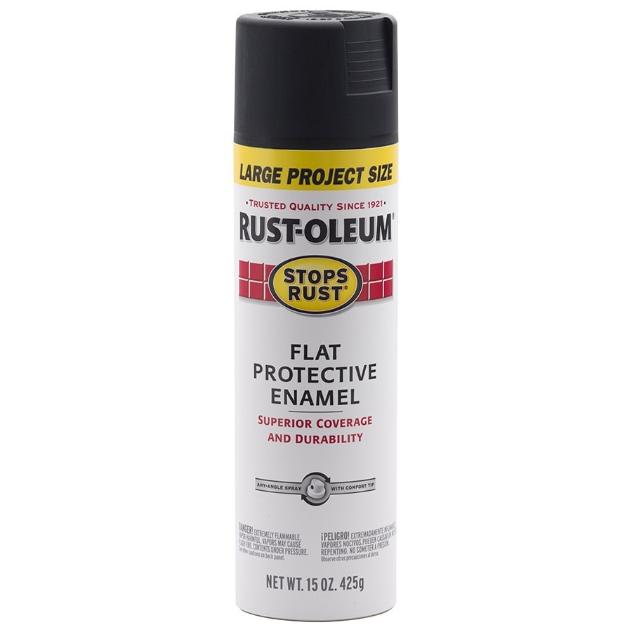 Rust-Oleum Stops Rust Black Enamel Spray Paint (Actual Net Contents: 15-oz)