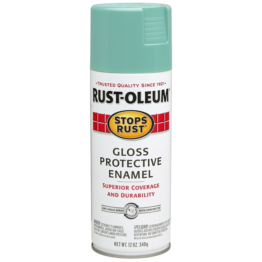 Rust-Oleum Stops Rust Light Turquoise Rust Resistant Enamel Spray Paint (Actual Net Contents: 12-oz)