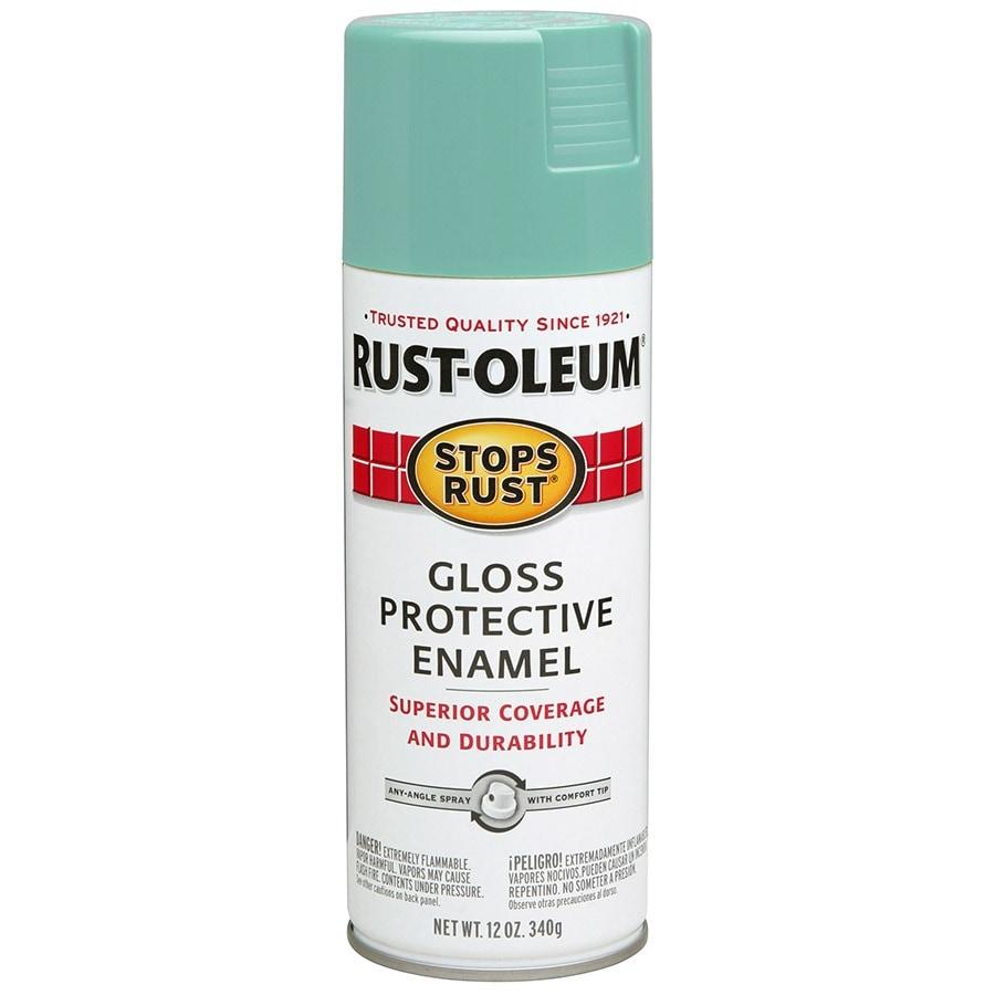 Rust-Oleum Stops Rust Light Turquoise Rust Resistant Enamel Spray Paint (Actual Net Contents: 12-oz)