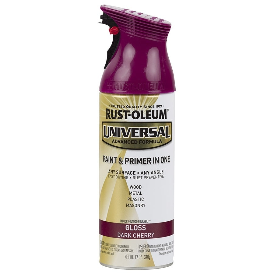 Rust Oleum Universal Gloss Dark Cherry Spray Paint And Primer In One Actual Net Contents 12 Oz