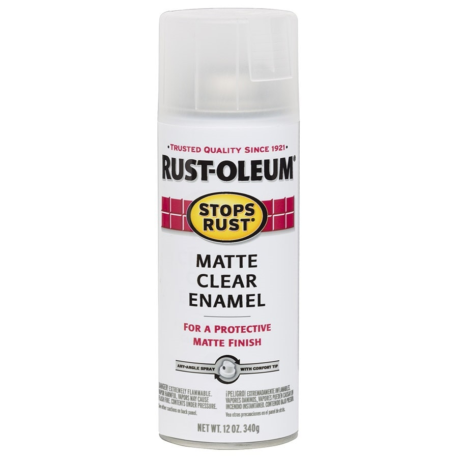 Rust-Oleum Stops Rust Clear Enamel Spray Paint (Actual Net Contents: 12-oz)