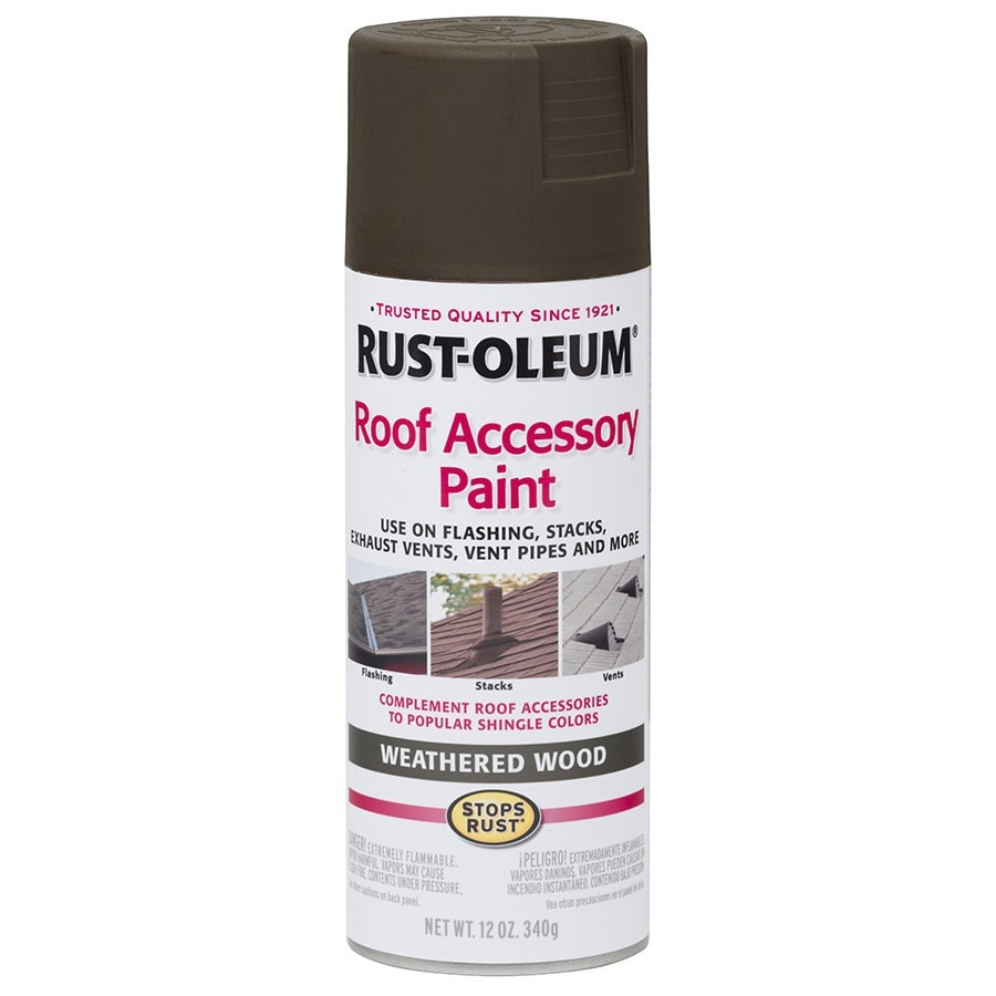 Shop Rust Oleum Roof Accessory Weathered Wood Enamel Spray Paint Actual Net Contents 12 Oz At