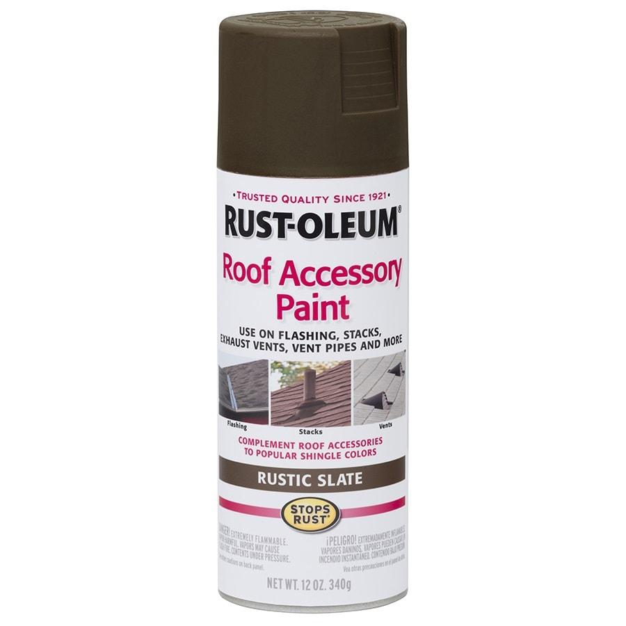 Shop Rust Oleum Roof Accessory Rustic Slate Rust Resistant Enamel Spray Paint Actual Net