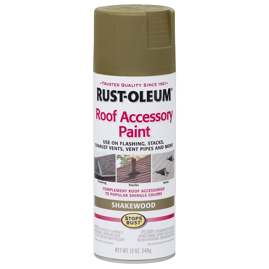 Rust-Oleum Roof Accessory Shakewood Rust Resistant Enamel Spray Paint (Actual Net Contents: 12-oz)