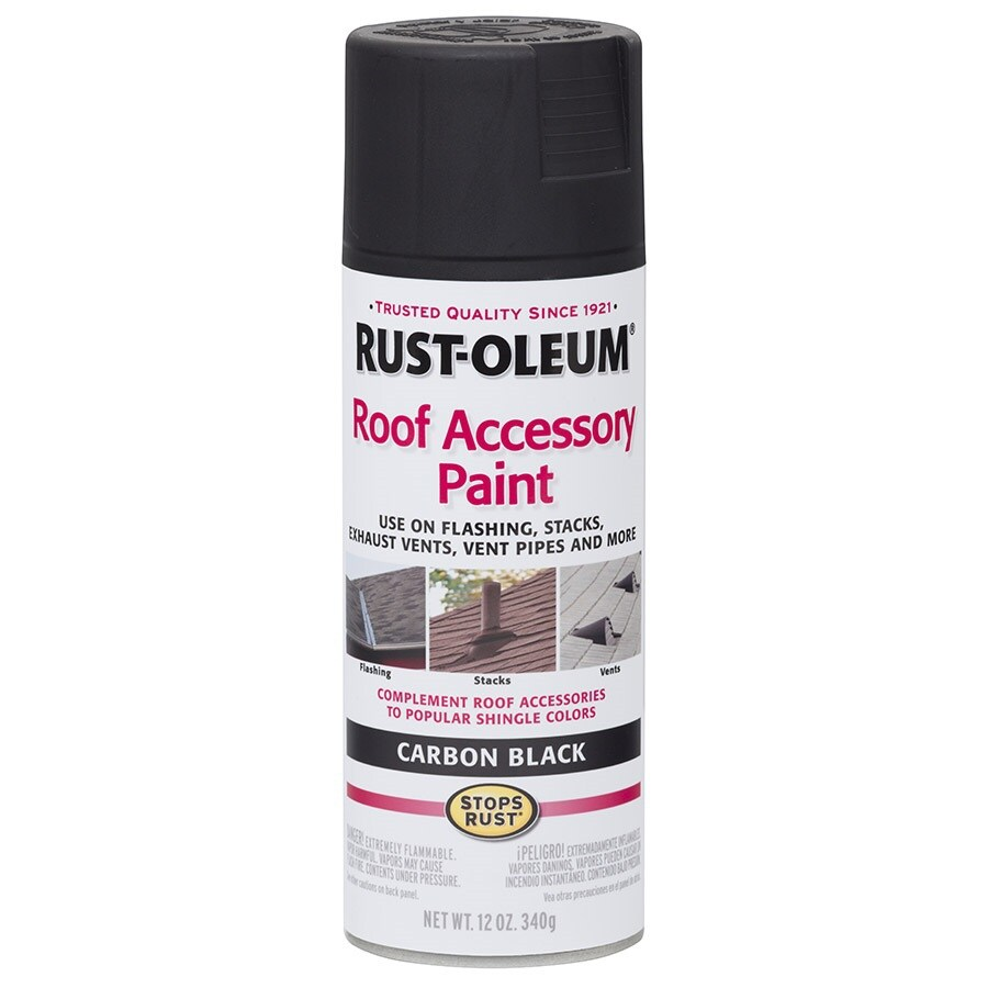 Rust-Oleum Roof Accessory Carbon Black Rust Resistant Enamel Spray Paint (Actual Net Contents: 12-oz)