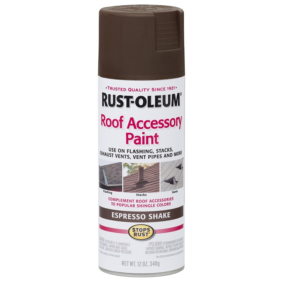 Shop Rust Oleum Roof Accessory Espresso Shake Spray Paint Actual Net Contents 12 Oz At