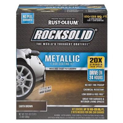 Rust-Oleum RockSolid 2-part Brown High-gloss Polycuramine Garage floor polycuramine (Actual Net Contents: 70 -fl oz)