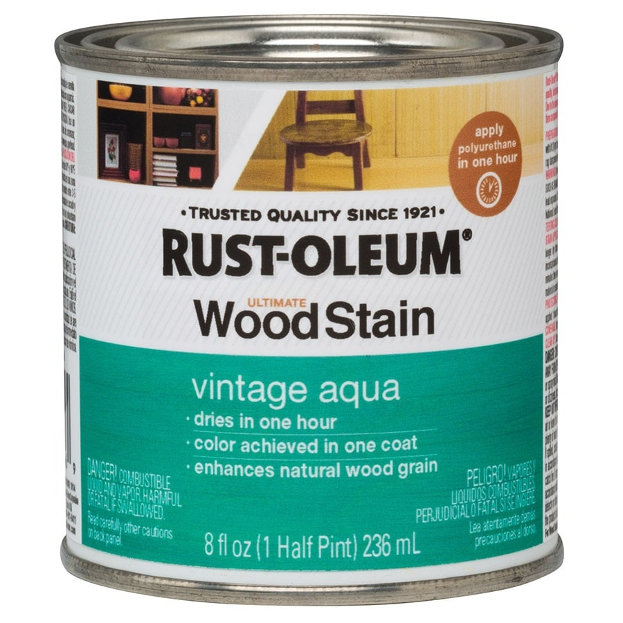 Shop Rust Oleum Ultimate Wood Stain 8 Fl Oz Vintage Aqua